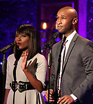 "Loren Lott and Donald Webber Jr. on stage during a Song preview performance of the BeBe Winans Broadway Bound Musical ""Born For This"" at Feinstein's 54 Below on November 5, 2018 in New York City."