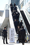 Japan's leading furniture retail chain Otsuka Kagu Ltd. holds its annual stockholders' meeting in Tokyo on Friday, March 27, 2015. Shareholders voted on the future leader. The companys founder and chairman, Katsuhisa Otsuka, 71, had sought to overthrow his daughter, and company president, Kumiko Otsuka, but shareholders voted down the chairman's proposal and selected a board favorable to his daughter. (Photo by AFLO)
