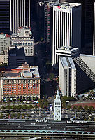 aerial photograph Ferry Building One Market Street Hyatt Hotel San Francisco