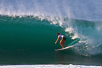 PIPELINE, Oahu/Hawaii (Wednesday, December 15, 2010) - Stephanie Gilmore (AUS).  Day 2 of the Billabong Pipe Masters in Memory of Andy Irons, the third and final stop on the Vans Triple Crown of Surfing (an ASP Specialty Series) got underway today, with Rounds 3 to 5 completed in challenging five foot (2 metre) waves at theBackdoor Pipeline on Oahu's North Shore..Kelly Slater (USA) scored the first perfect 10 point wave of the event, Dusty Payne (HAW) advanced past Round 3 and qualified for next years Top 32 and Stephanie Gilmore won her third Triple Crown of Surfing when she won the Duel for the Jewel from Tyler Wright (AUS) 2nd, Coco Ho (HAW) in 3rd and Alana Blanchard (HAW) in 4th.. .The final stop on the 2010 ASP World Tour, the Billabong Pipe Masters in Memory of Andy Irons utilised the ASP's Dual Heat Format again today, overlapping the man-on-man matches to take advantage of the swell on offer. With a smattering of Pipeline specialists lining the field, the world's best surfers campaigned against one another and the elements to ensure their position amongst the world's best surfers for 2011...Photo: joliphotos.com