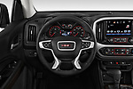 Car pictures of steering wheel view of a 2019 GMC Canyon 4WD SLE Extended Cab 5 Door Pick Up