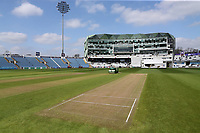 General view of the pitch during Yorkshire CCC vs Essex CCC, Specsavers County Championship Division 1 Cricket at Emerald Headingley Cricket Ground on 14th April 2018