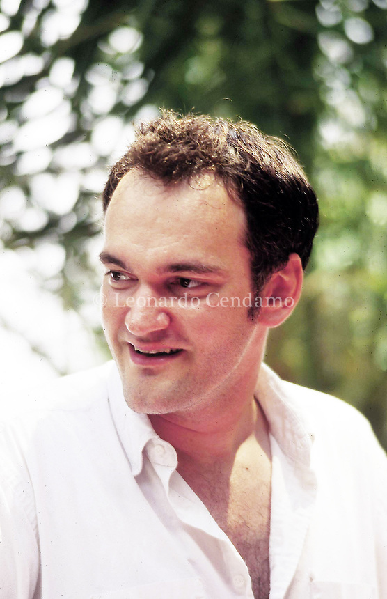 Quintin Tarantino, director films, Taormina 7 august 1994,  © Leonardo Cendamo / Blackarchives