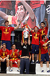02.07.2012. Estopa during Tour of Madrid of the Spanish football team to celebrate their victory in Euro 2012 july 2012.(ALTERPHOTOS/ARNEDO)