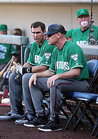 Paul Goldschmidt (left), coach Matt Williams (right) - Arizona Diamondbacks 2016 spring training (Bill Mitchell)