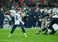 Seattle Seahawks Quarterback Russell Wilson (3) prepares to throw the ball