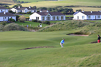 Joe Lyons (Galway) on the 12th green during Round 2 of The South of Ireland in Lahinch Golf Club on Sunday 27th July 2014.<br /> Picture:  Thos Caffrey / www.golffile.ie