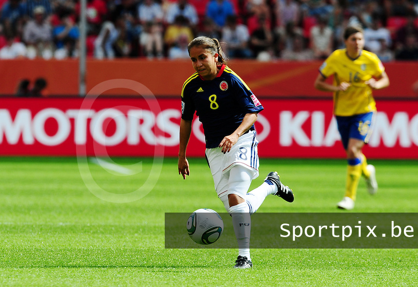 Fifa Women's World Cup Germany 2011 : Colombia - Sweden at Bayarena Leverkusen : Andrea Peralta.foto DAVID CATRY / Vrouwenteam.be