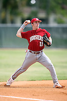 February 22, 2009:  Third baseman Michael Earley (11) of Indiana University during the Big East-Big Ten Challenge at Naimoli Complex in St. Petersburg, FL.  Photo by:  Mike Janes/Four Seam Images