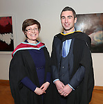 19/1/2015   (with compliments)  Attending the University of limerick conferrings on Monday afternoon was Barry Coleman, Ballyhea, Cork conferred with an MSc in Risk Management and Insurance and Course Director Dr Orla McCullagh, Dept of Accounting & Finance, KBS, UL.  Picture Liam Burke/Press 22
