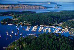 San Juan County, WA<br /> Aerial  view of Roche Harbor, a resort on San Juan Island