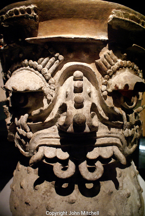 Brasero Tlaloc at the Museo del Templo Mayor, Mexico City.