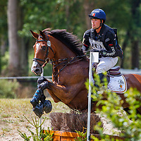 BEL-Cyril Gavrilovic rides Astucieux de Prade during the Cross Country for the CCIO4*-S FEI Nations Cup Eventing. 2019 FRA-Le Grand Complet at Le Haras du Pin. Saturday 10 August. Copyright Photo: Libby Law Photography