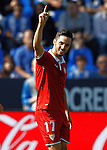 Sevilla FC's Pablo Sarabia celebrates goal during La Liga match. October 15,2016. (ALTERPHOTOS/Acero)