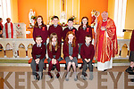 Pictured at their confirmation in the Church of the Assumption, Mountcollins on Friday were the students of St. Mary's National School, Mountcollins with the Bishop of Limerick Fr. Brendan Leahy.
