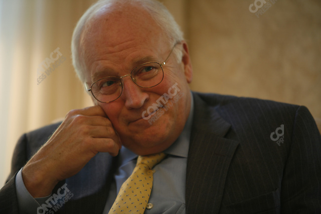 U.S. Vice President Richard (Dick) Cheney holds an interview at the Vice President's residence. Washington, D.C., October 18, 2006.
