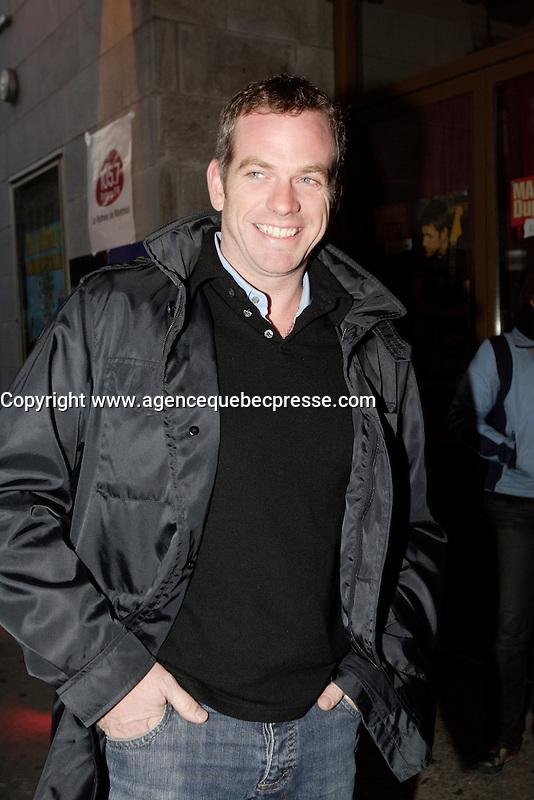Montreal (QC) CANADA, October 30, 2007 -<br /> Garou arrive at<br />  Marc Dupre new album launch, held at Club Soda, Montreal, October 30m 2007<br /> <br /> <br /> photo : (c)    images DistributionOctober 31, 2007  - montreal, Quebec, CANADA - GAROU arrive at the club soda for an album launch