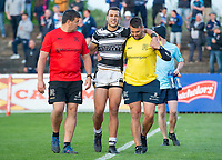 Picture by Allan McKenzie/SWpix.com - 10/05/2018 - Rugby League - Ladbrokes Challenge Cup - Featherstone Rovers v Hull FC - LD Nutrition Stadium, Featherstone, England - Hull FC's Carlos Tuimavave is helped from the field with an injury.