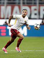 Calcio, Serie A: Milano, stadio Giuseppe Meazza (San Siro), 1 ottobre 2017.<br /> Roma's Aleksandar Kolarov in action during the Italian Serie A football match between Milan and AS Roma at Milan's Giuseppe Meazza (San Siro) stadium, October 1, 2017.<br /> UPDATE IMAGES PRESS/IsabellaBonotto
