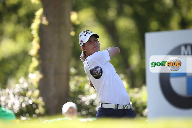 Emiliano Grillo (ARG) drives the 17th during Round One of the 2015 BMW PGA Championship over the West Course at Wentworth, Virginia Water, London. 21/05/2015Picture David Lloyd, www.golffile.ie.