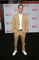 "WESTWOOD, CA - AUGUST 9: Peter Berg, at Premiere Of STX Films' ""Mile 22"" at The Regency Village Theatre in Westwood, California on August 9, 2018. Credit: Faye Sadou/MediaPunch"