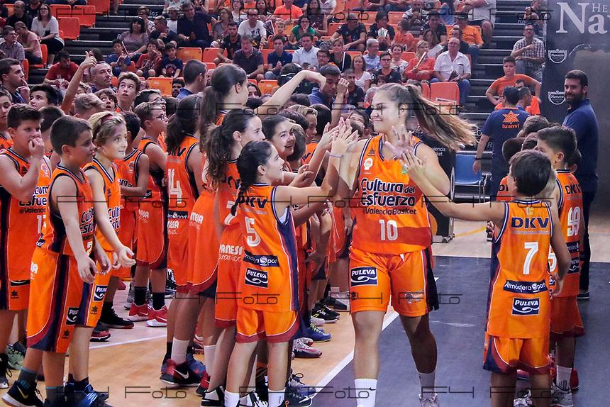 VALENCIA, SPAIN - 14/09/2017. Presentación Valencia Basket Femenino y Masculino temporada 17-18, Pabellon Fuente de San Luis, Valencia, Spain.