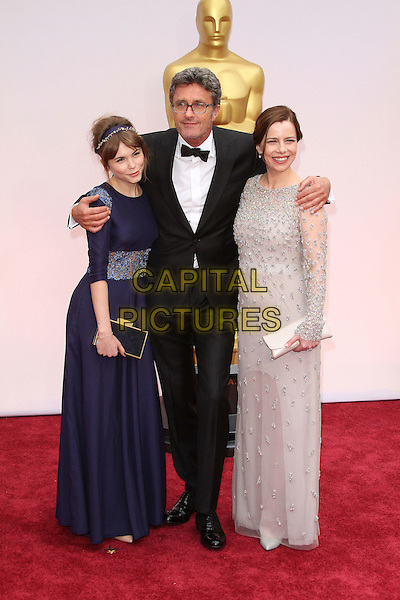 22 February 2015 - Hollywood, California - Agata Kulesza, Pawel Pawlikowski and Agata Trzebuchowska. 87th Annual Academy Awards presented by the Academy of Motion Picture Arts and Sciences held at the Dolby Theatre. <br /> CAP/ADM<br /> &copy;AdMedia/Capital Pictures Oscars