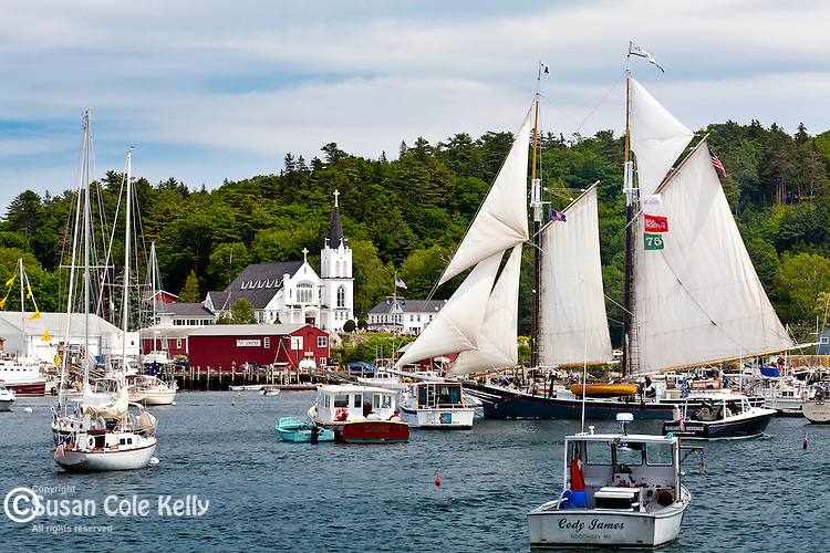 Schooner LEWIS R. FRENCH at the Boothbay Windjammer Festival in Boothbay, ME, USA