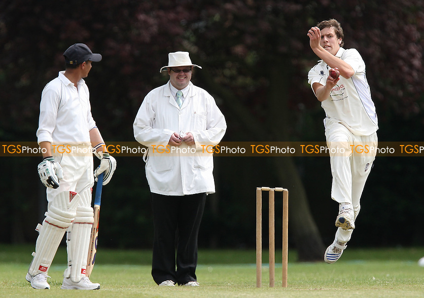 James Coote of Hornchurch Ath in bowling action - Hornchurch Athletic CC vs Asian CC - Lords International Cricket League - 13/06/09 - MANDATORY CREDIT: Gavin Ellis/TGSPHOTO - Self billing applies where appropriate - 0845 094 6026 - contact@tgsphoto.co.uk - NO UNPAID USE.