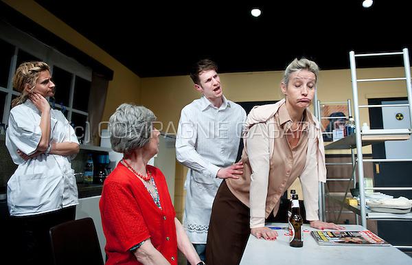 """Theatre company Willen Is Kunnen playing """"Milleke Van Heule"""" from Hilda Vleugels, directed by Jean-Pierre Leonard (Belgium, 26/03/2014)"""