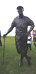 PAYNE STEWART HONOURED IN IRELAND 12-7-00<br /><br />© Don MacMonagle, Killarney Ireland 353+87+2563610<br /><br />A lareger than life statue  of Payne Stewart which was unveiled atWaterville Golf Club , Ireland on Wednesday. Payne was honorary captain at the club for 2000.<br />Picture by Don MacMonagle