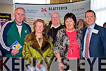 .HOLIDAY: Looking over some of Stallery's Holiday in Manor West Hotel, Tralee on Sunday, l-r: Nora and Marie Finucane, Christopher Moriarty, Joan Breen (ballybunion) and David Slattery (Tralee). ..................