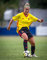 Victoria Wotton of Watford Ladies during the pre season friendly match between Stevenage Ladies FC and Watford Ladies at The County Ground, Letchworth Garden City, England on 16 July 2017. Photo by Andy Rowland / PRiME Media Images.