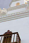 Balcony and Tower, San Xavier del Bac Mission, Tucson, Arizona