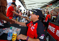 Jul 9, 2016; Joliet, IL, USA; NHRA funny car driver Cruz Pedregon during qualifying for the Route 66 Nationals at Route 66 Raceway. Mandatory Credit: Mark J. Rebilas-USA TODAY Sports