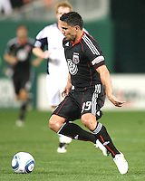 Jaime Moreno #99 of D.C. United during an MLS match against the New England Revolution on April 3 2010, at RFK Stadium in Washington D.C.