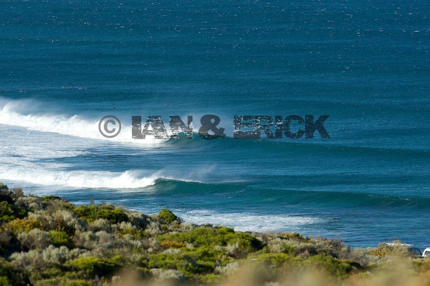 Empty wave breaking at Karate in Gracetown, Western Australia