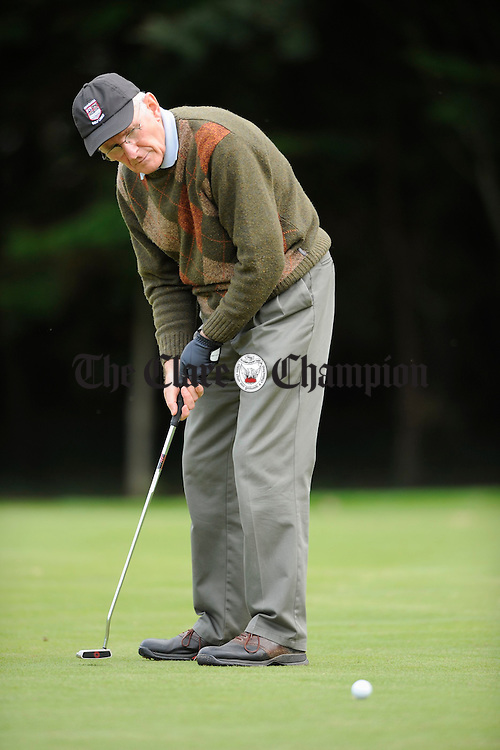 Local man Jim Hennessy playing in a friendly fourball at Ennis Golf Club. Photograph by John Kelly.