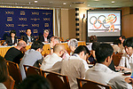 Toshiro Muto, CEO of the Tokyo Organising Committee of the Olympic and Paralympic Games (TOCOG) speaks during a news conference at the Foreign Correspondents' Club of Japan on July 18, 2017, Tokyo, Japan. Muto spoke about preparations for the Tokyo 2020 Olympic and Paralympic Games and the Nationwide Participation Program to attract more overseas visitors before, during and after the Games. (Photo by Rodrigo Reyes Marin/AFLO)