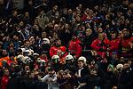 16.12.2017, Signal Iduna Park, Dortmund, GER, 1.FBL, Borussia Dortmund vs TSG 1899 Hoffenheim, <br /> <br /> im Bild | picture shows<br /> Polizei im Einsatz im Hoffenheimer Fanblock, <br /> <br /> Foto &copy; nordphoto / Rauch