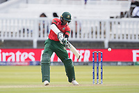 Shakib Al Hasan (Bangladesh) nicks off from Shaheen Afridi (Pakistan) during Pakistan vs Bangladesh, ICC World Cup Cricket at Lord's Cricket Ground on 5th July 2019