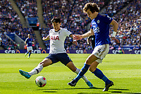 Heung-Min Son of Tottenham Hotspur during the Premier League match between Leicester City and Tottenham Hotspur at the King Power Stadium, Leicester, England on 21 September 2019. Photo by James  Gill / PRiME Media Images.