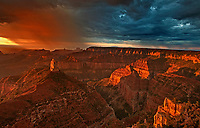 749220325 sunrise storms and heavy cloud cover over mount hayden at point imperial north rim of the grand canyon in arizona united states