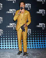 LOS ANGELES - JUN 25:  Jussie Smollett at the 2017 BET Awards - Press Room at the Microsoft Theater on June 25, 2017 in Los Angeles, CA