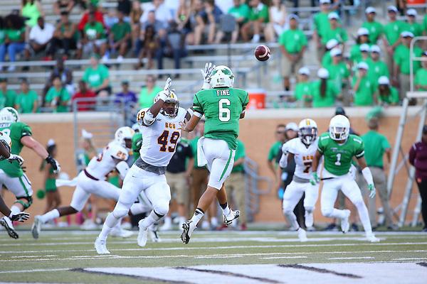 DENTON, TX - SEPTEMBER 10: North Texas Mean Green Football v Bethune Cookman at Apogee Stadium in Denton on September 10, 2016 in Denton, Texas. (Photo by Rick Yeatts)