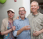 Julie Halston, Sam Rudy and John Epperson attends the Retirement Celebration for Sam Rudy at Rosie's Theater Kids on July 17, 2019 in New York City.