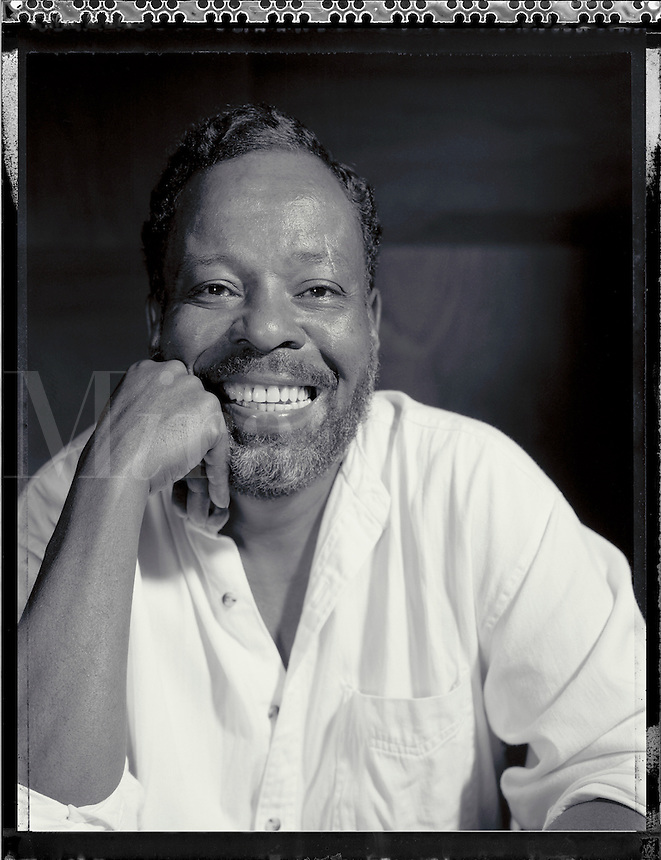 Black & white portrait of Cornell Marigney. Atlanta, Georgia.