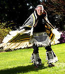 Tigard resident John Beard may not be proficient at Indian dancing but he is at weaving Ravenstail robes. Beard, a retired pharmacist, specializes in Ravens Tail weaving, a meticulous form of hand-weaving traditional to natives of Alaska.