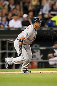 Detroit TIgers infielder Carlos Guillen (9) during a game vs. the Chicago White Sox at U.S. Cellular Field in Chicago, Illinois August 13, 2010.   Chicago defeated Detroit 8-4.  Photo By Mike Janes/Four Seam Images