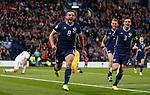 06.09.2019 Scotland v Russia, European Championship 2020 qualifying round, Hampden Park:<br /> John McGinn celebrates his goal